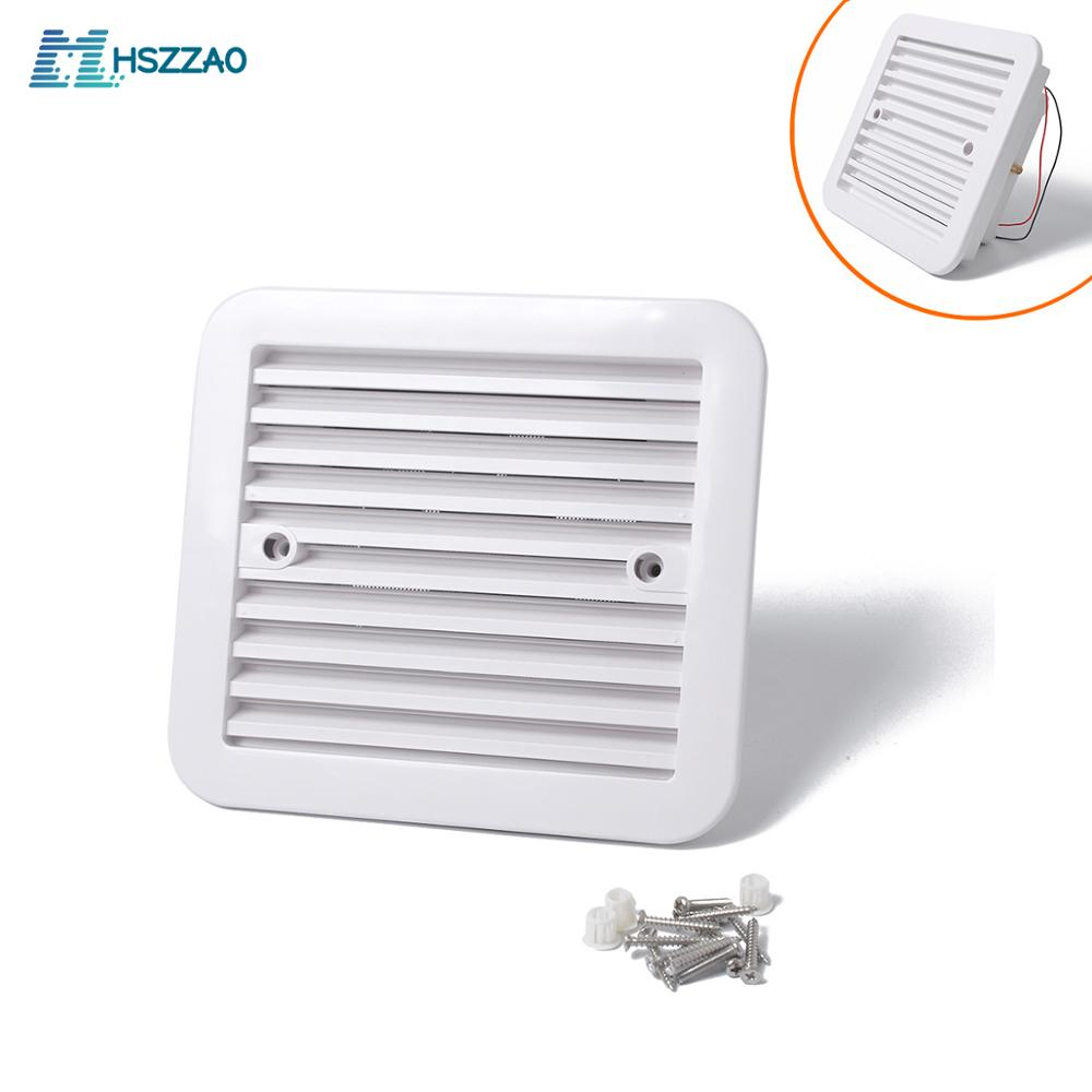 12V WHITE Air Vent with FAN <font><b>RV</b></font> Trailer Caravan Side Air Ventilation For RVs, Trailers, <font><b>Motorhomes</b></font> etc Auto Accessories image