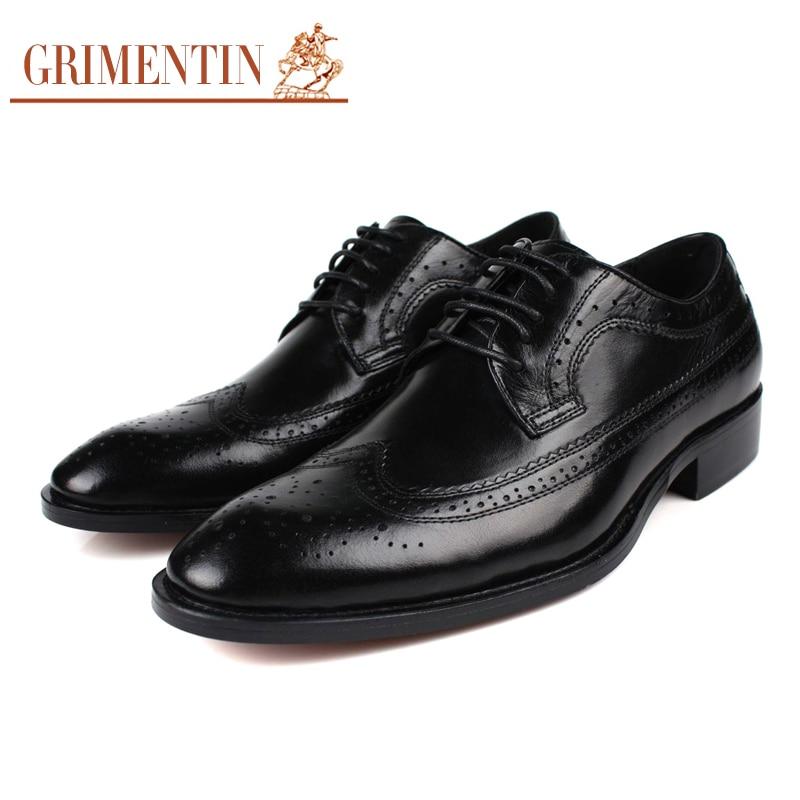 Negócio Black Oxford Genuíno Do De Preto Vintage Marca Couro Dos Sapatos Grande Homens Grimentin Masculinos Size12 fxwTq5Za