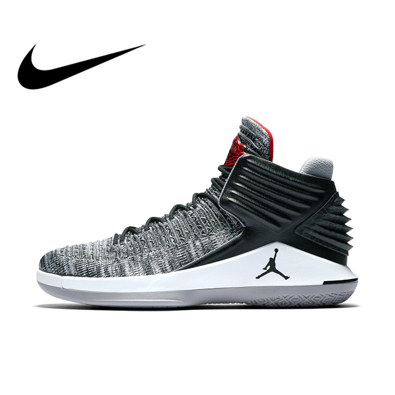 Оригинальные Nike Оригинальные кроссовки Air Jordan JORDAN XXXII PF Мужская баскетбольная обувь кроссовки удобные дышащие голяшка средней высоты AJ AH3348