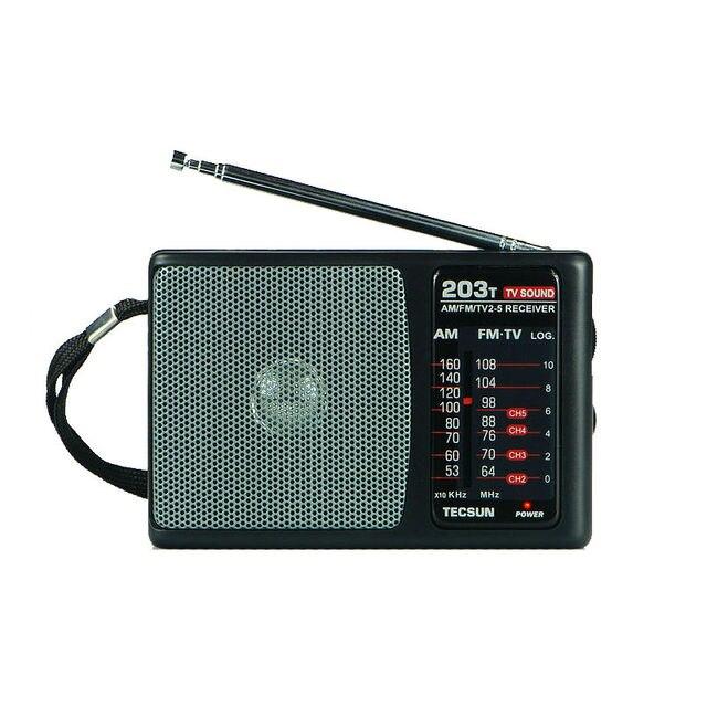 TECSUN R-203T FM/MW/Звук ТЕЛЕВИЗОРА Радио Приемник