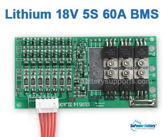 Supower 5s 18v 18 5v 21v 60a Li Ion Lithium Lipo Battery