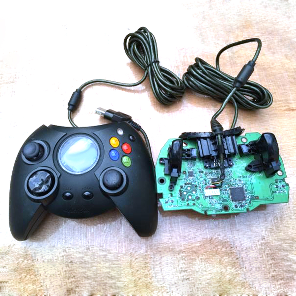 2PCS Wired classic black console vibration joystick for Xbox controller handle gaming gamepad for XbOX generation one 1