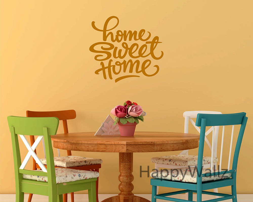 Home Sweet Home Family Quote Wall Sticker Decorating DIY Family Home ...