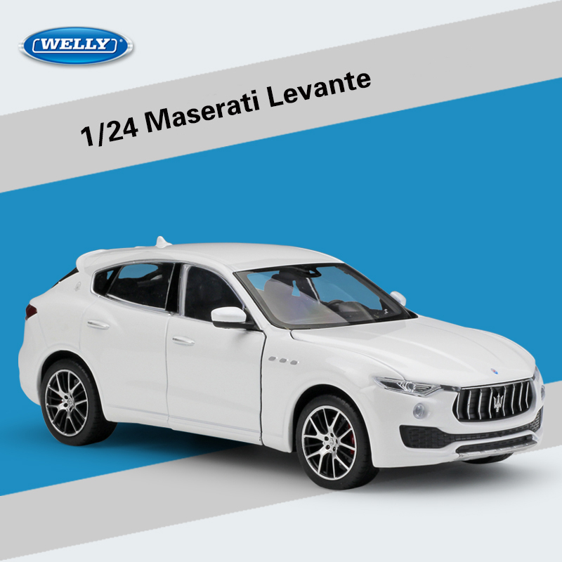 WELLY 1:24 Maserati Levante SUV Diecast Alloy Model Car Toy For Kids Christmas Gifts Original Box Free Shipping