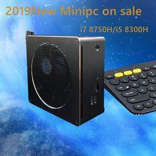2019 Newset Core 8th Gen mini pc win10 i7 8750H/i5 8300H Inetel UHD Graphics 630 2.4G/5G AC wifi  4K mini 6Core Gaming pc