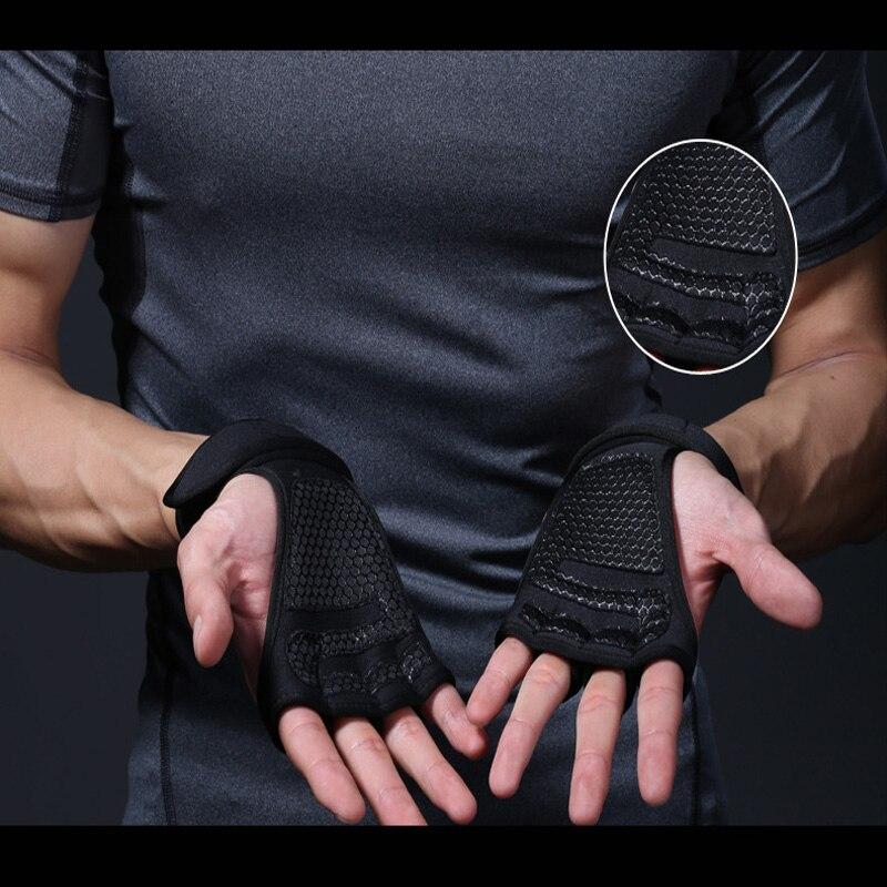חדש 1 זוגות משקל אימון הרמת כפפות נשים גברים כושר ספורט גוף בניין התעמלות כושר כידון יד פאלם מגן כפפות