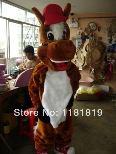 MASCOT hästdjur maskot kostym anpassad fancy kostym anime cosplay mascotte tema fancy klänning karneval kostym