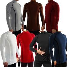 MenS High Neck Professional Latin Dance Tops Ballroom Dance Practice Clothes Long Sleeves Velvet Adult Flamenco Shirt ZH3089