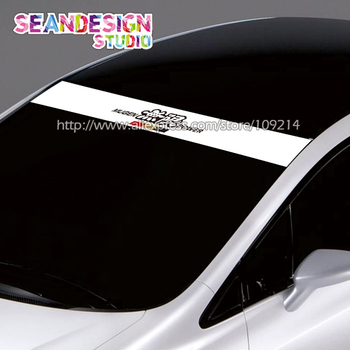 For <font><b>Honda</b></font> Mugen Power Type B NSX FIT Accord S2000 CIVIC Auto SUV Sticker Decals Waterproof Windshield Sticker QCPP image