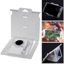 1 pcs Touch Screen Games Joystick Transparent Sensor Game Control with Phone Stand for Smartphone Tablelet Arcade Game