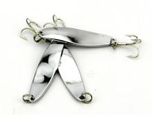 YOUGLE 10 Pcs/lot SP016 Spoon Bait Metal Fishing Lure Bass CrankBait Fishing Tackle 5cm/7g 6#