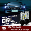Night Lord  For L-e-xus ES350 DRL 7440 WY21W Daytime Running Lights & Front Turn Signals light  All in one