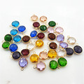 Wholesale 22pcs/lot color rhinestone disc tag charm pendant for necklace Hair Accessories DIY Jewelry Accessories Making