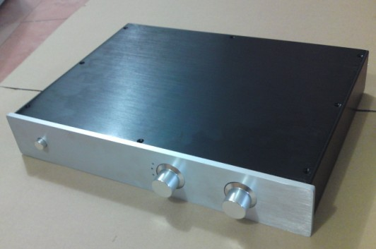 Aluminum Amplifier chassis Enclosure/Preamp case DIY Box + Signal switching board BZ4307