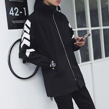 2017 New Brand Men Cotton Loose Coat Moto Bikerstyle Long Ja Cket Casual Sweatshirts Bomber Hip-Hop Dress Hot Tops Youth Blazer