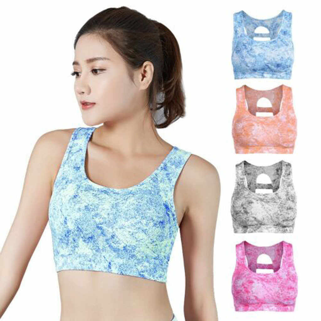 KANCOOLD Women Sports Bra High Stretch Breathable Top Fitness Padded For Running Yoga Gym Seamless Crop Bra Gradient Sport Bra