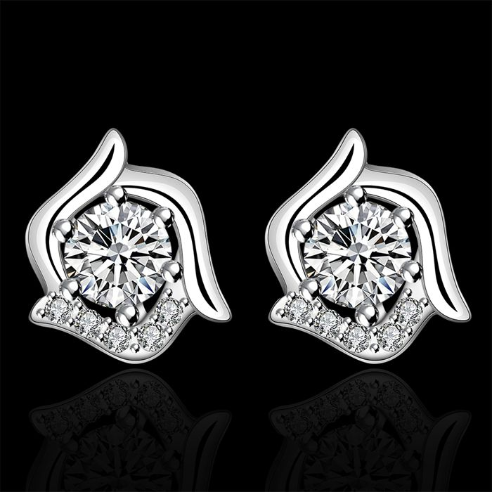 925 jewelry silver plated earrings , silver plated fashion jewelry ,  /cugallna eloancva LKNSPCE491
