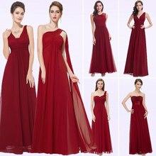 Vestidos longos da dama de honra borgonha, elegante, decote em v, vestido formal para festa de casamento, plus size