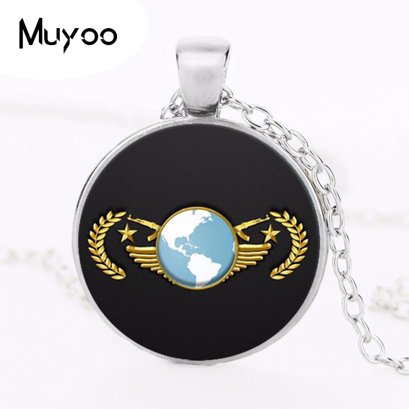 Games CS GO Glass Chain Necklace For Men CSGO Anime Neckless Male Collier Homme Statement Pendants Jewelry Best Gift Friends HZ1(China)