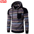 Superyou Spring Autumn Men's Bohemia Retro Hooded Hoodies Sweatshirt Male Comfortable Cotton Slim Fit Coats Tops Outwear Oct25