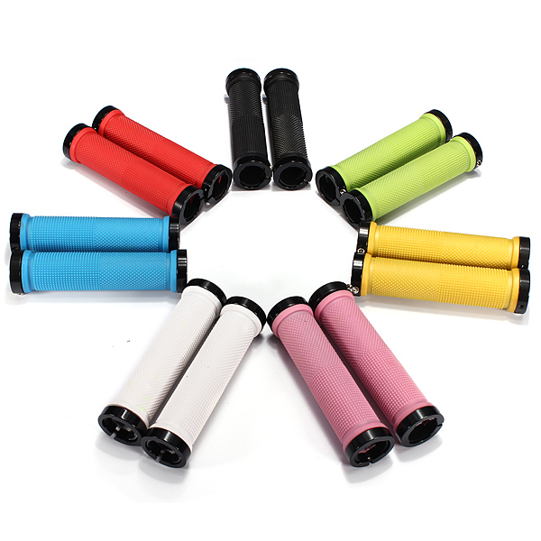 Good Deal Double Road Mountain MTB BMX Bike Cycle Bicycle Lock On Locking Handlebar Grips