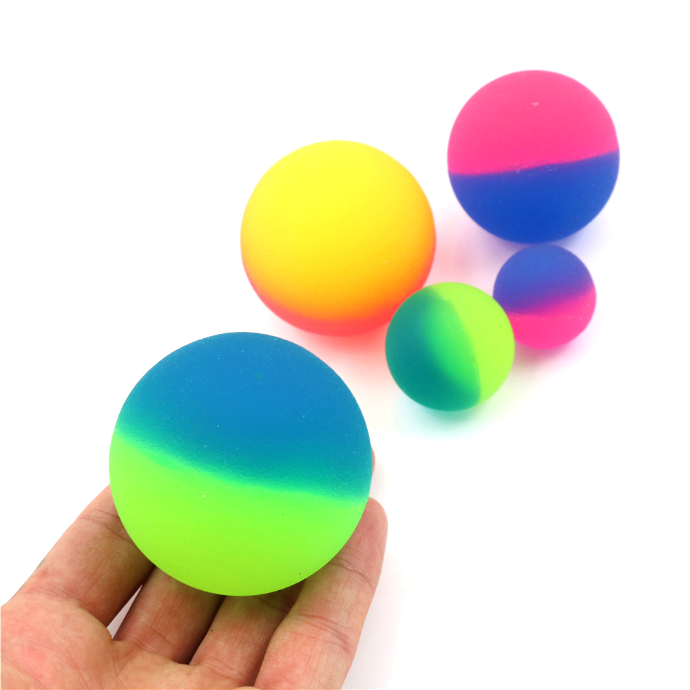 1pcs 42/45mm Cute Luminous Children Toy Ball Colored Boy Bouncing Ball Rubber Kids Sport Games Elastic Jumping Balls Outdoor Toy
