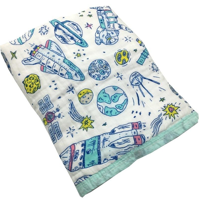 Vier/Sechs Schicht 100% Baumwolle Musselin Baby Decke Neugeborenen Windeln Super Comfy Bettwäsche Decken Swaddle Wrap Babys Bad Handtuch