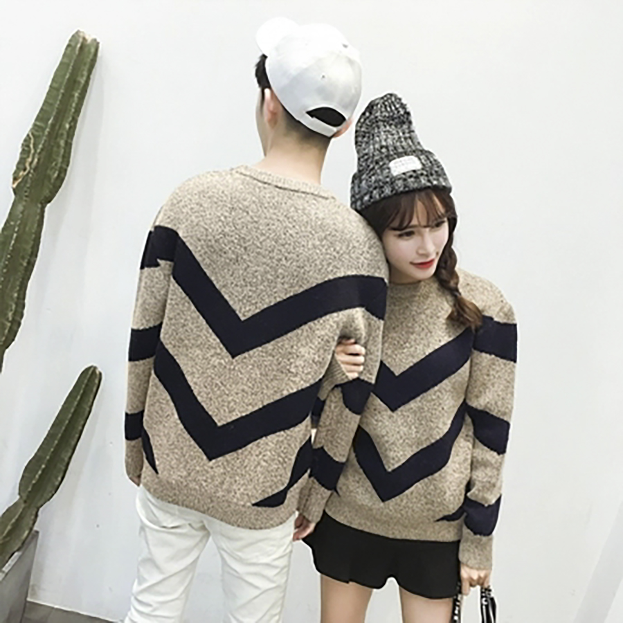 Knitted Autumn Women Winter Sweater Couple Korean Style Long Sleeve Men Sweater Casual Mens Pullovers Jumper Sweaters Clothes