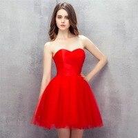 Backlackgirl простые элегантные красные платья для выпускного вечера 2017 Милая спинки Короткие Homecoming платья Тюль Дешевые Коктейльные Вечерние Пл