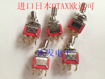 Import Japan OTAX pull toggle switch 2 files 3 feet curved legs gold plated feet new original