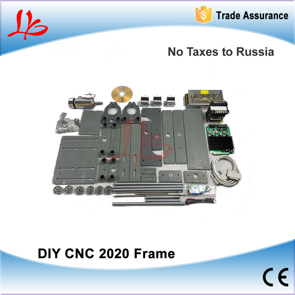 No Tax to Russia, DIY CNC Router Parts CNC 2020 Frame With Parallel port For Woodworking Machine ...