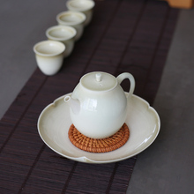 PINNY Retro Plant Ash Teapot Pigmented Ceramic Tea Pot Chinese Kung Fu Drinkware Traditional Chinese Tea Service Teapot Kettle