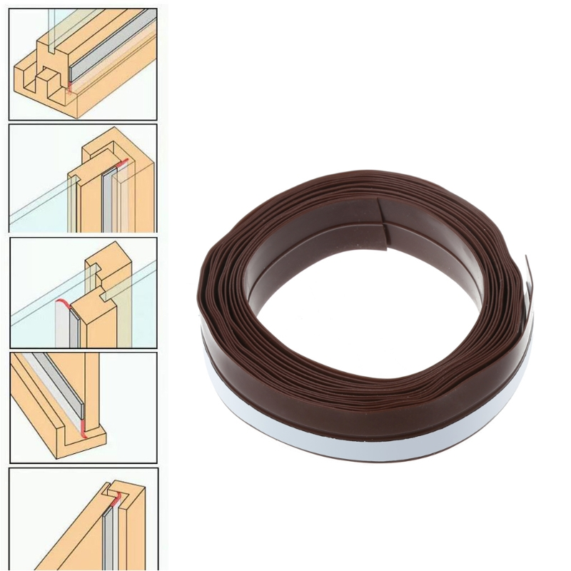Window Door Self Adhesive Rubber Draught Excluder Strip Sealing Tape Seal Strip #0604 cawanerl car sealing strip kit weatherstrip rubber seal edging trim anti noise for nissan almera march micra note pixo platina