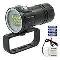 Профессиональный подводный светильник для видео  XM-L2 фонарь для дайвинга  светильник для фотосъемки  белый  красный светодиодный светильни...