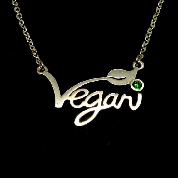 Jewelry & Accessories Pendant Necklaces Vegan Jewelry Vegetarian Symbol Silver Plated Letters Vegan Necklace Vegan Lifestyle Gift Jewelry For Women Ylq0530 Ideal Gift For All Occasions