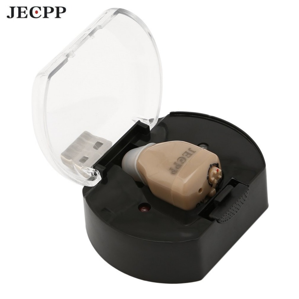 JECPP ZDC-900CF Digital Hearing Aid Invisible ITC Rechargeable Sound Amplifier Volume Control with Soft Ear Tips Hot Sale home care medical manual control invisible hearing aid digital wireless ear sound amplifier hearing aid for seniors s 100a drop