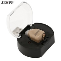 JECPP ZDC 900CF Digital Hearing Aid Invisible ITC Rechargeable Sound Amplifier Volume Control With Soft Ear