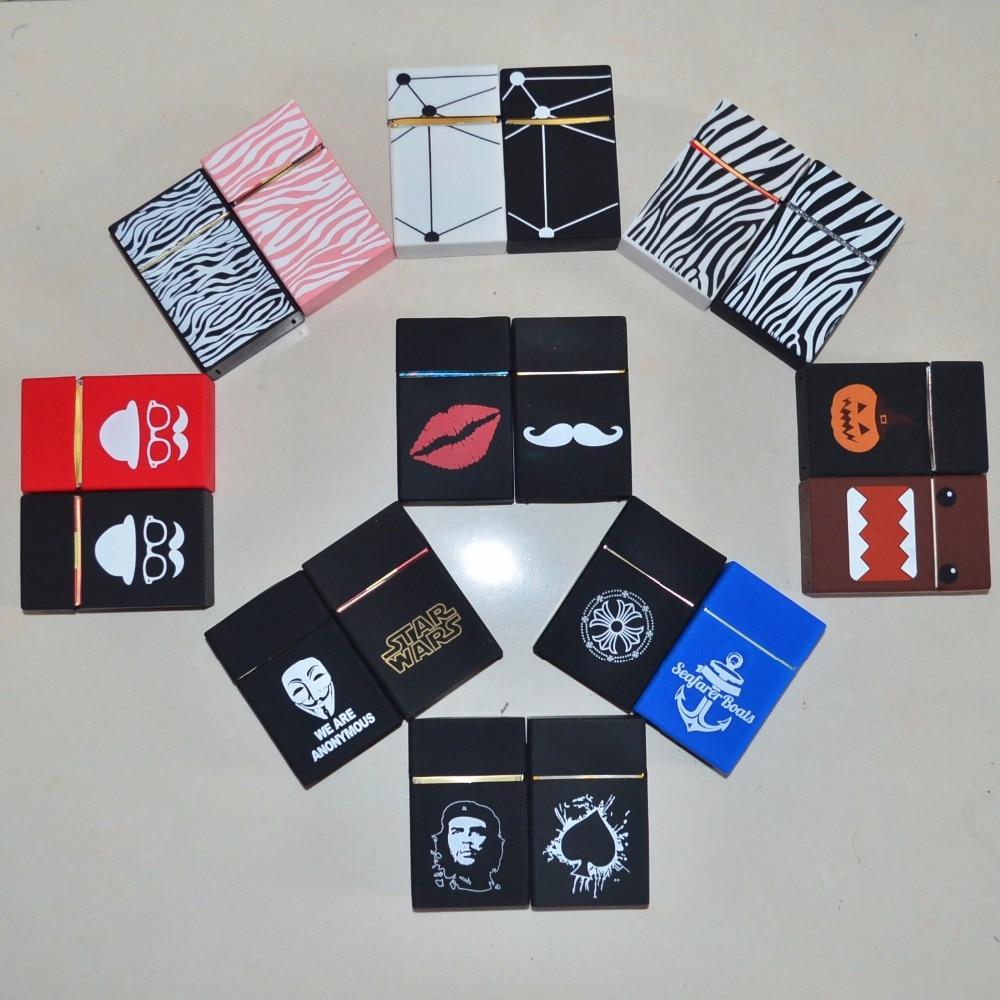 20pcs lot mix pattern Wholesale Hot Sale Silicone Cigarette Case Silicone Box normal Cigarette Box Cigarette
