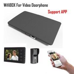 Caja inalámbrica WiFi IP para vídeo timbre de puerta edificio sistema de intercomunicación Control 3G 4G Android iPhone ipad aplicación en teléfono inteligente