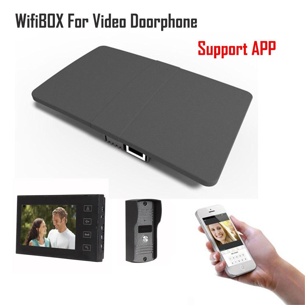 Sans fil WiFi IP BOÎTE Pour Vidéo Interphone Sonnette Bâtiment Interphone Système Contrôle 3g 4g Android iPhone ipad APP sur Téléphone Intelligent