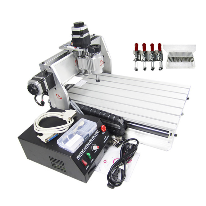 CNC Milling Machine CNC 3040 3 axis CNC Wood Router Engraver with 20pcs CNC Engraving Tools as Gift 4 axis cnc machine cnc 3040f drilling and milling engraver machine wood router with square line rail and wireless handwheel