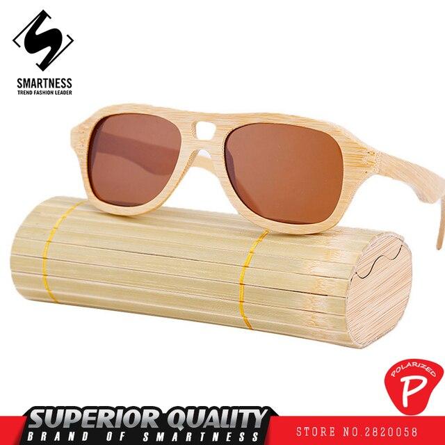 Hölzerne Sonnenbrille Retro Bambus Männer Frauen Polarisierte Sonnenbrille,B5