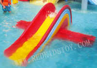 Fiberglass Rainbow Slide Water Playground HZ-CF009