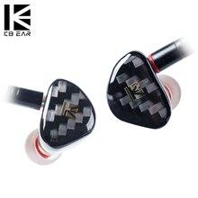 KB EAR Opal Dynamic Driver Hifi In Ear Earphone With Carbon Fiber Plated Headset MMCX earplug