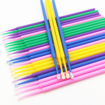 100 PCS Disposable Make Up Eyelashes Mini Individual lashes Applicators Mascara Brush Lashes Extensions Makeups Cotton Swab Tool