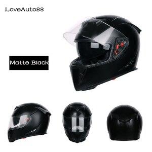 Image 2 - Moto Casco Integrale Viso Moto Casco di Sicurezza casco Moto Da Corsa Del Casco Per La Donna/Uomo DOT Approvato