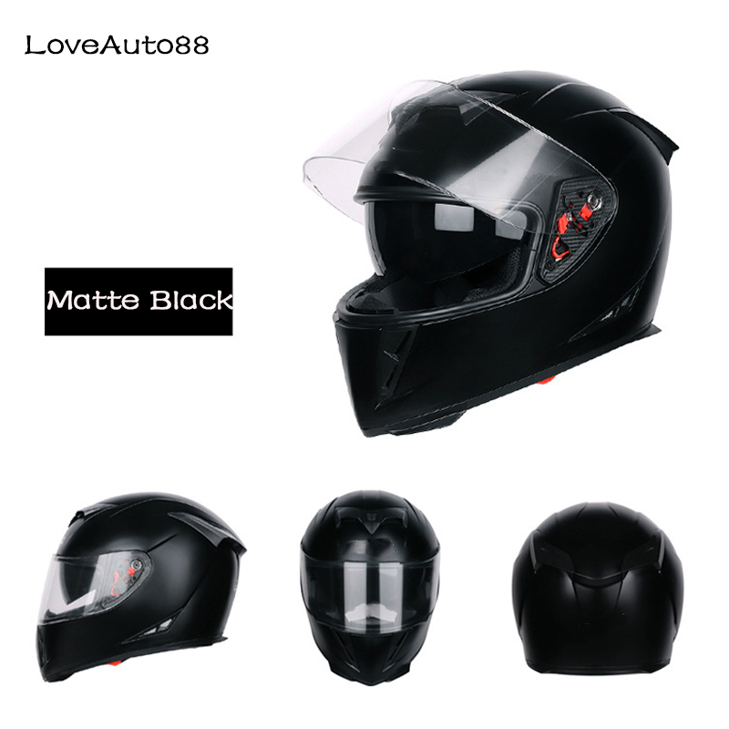 Image 2 - Motorcycle Helmet Full Face Motorbike Helmet Safe Racing helmet Motorcycle Helmet For Woman/Man DOT Approved-in Helmets from Automobiles & Motorcycles