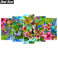 Zhui Star 5D DIY Diamond Painting Butterfly Embroidery Full Square Diamond Cross Stitch Mosaic Decor GiftXPZ