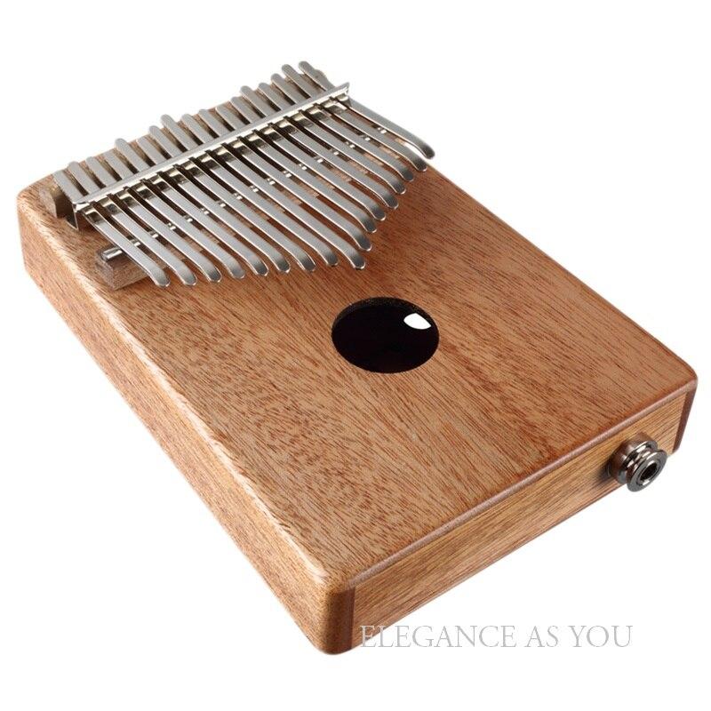 Houten KALIMBA 10 toetsen thumb piano kinderen verlichting muziek instrument Kalimba 17 toetsen Afrikaanse etnische instrument 17 knoppen - 5