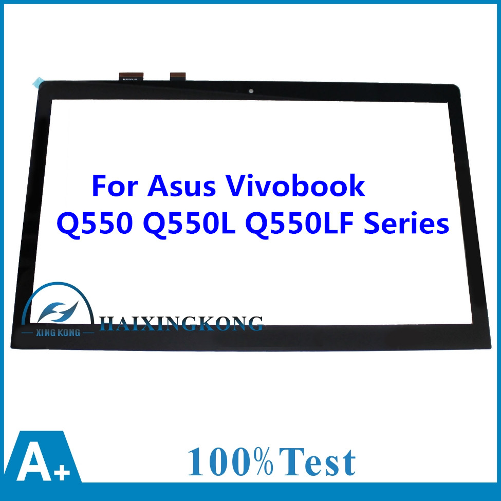 Perfect New 15.6 For Asus Vivobook Q550 Q550L Q550LF Series Laptop Touch Screen Glass Panel + Digitizer Replacements Lens brand new 15 6 laptop touch for asus